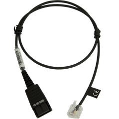 Jabra Quick Disconnect (QD) to Modular (RJ) Straight Bottom Cord, 0.5 meter